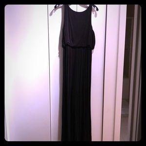 Ann taylor loft black maxi dress